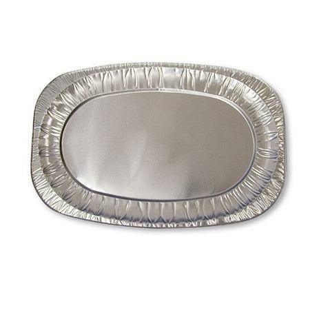 Alu-Servierplatte oval