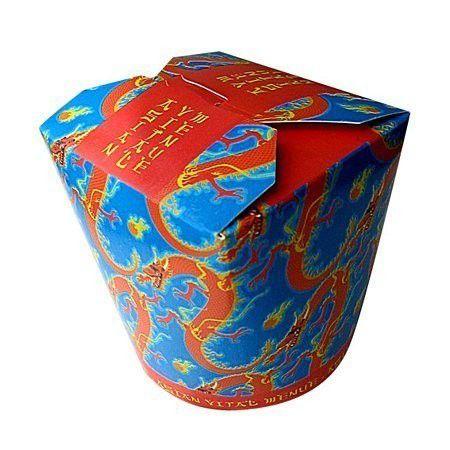 Food-Boxen Asia Dragon Motiv